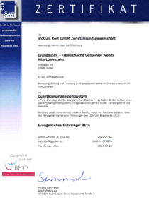 BETA Zertifikat